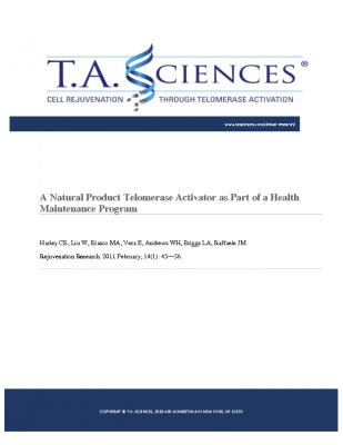 Natural Product Telomerase Activator as Part of a Health Maintenance Program